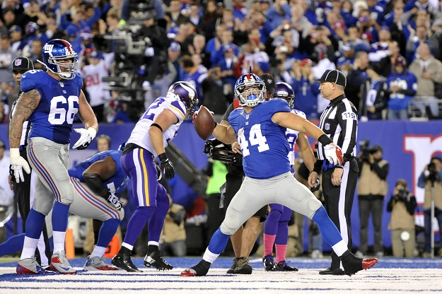 Peyton Hillis, New York Giants (October 21, 2013)