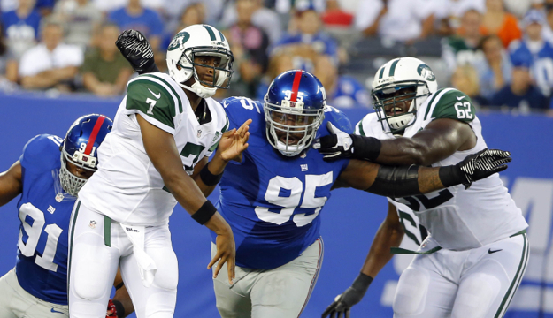 Shaun Rogers (95), New York Giants (August 24, 2013)