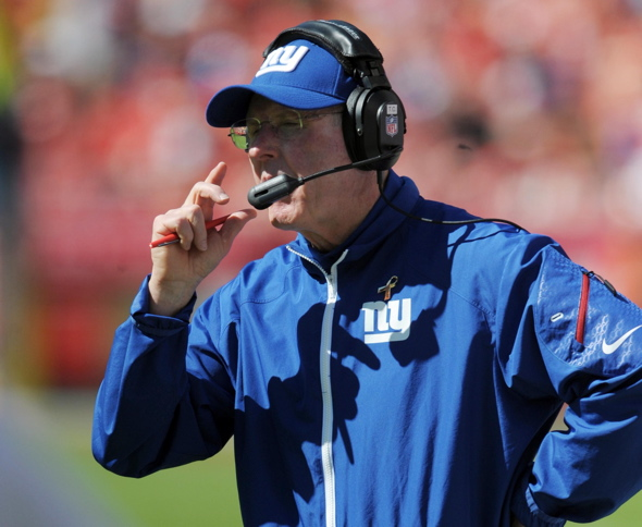 Tom Coughlin, New York Giants (September 29, 2013)