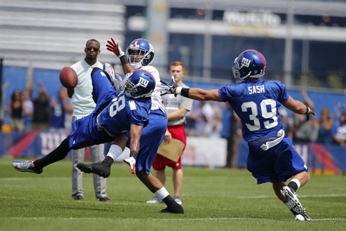 Trumaine McBride (38), Tyler Sash (39), New York Giants (July 27, 2013)