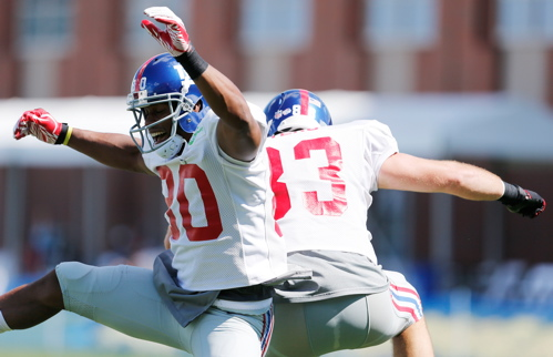 Victor Cruz (80), Brandon Myers (83), New York Giants (August 4, 2013)