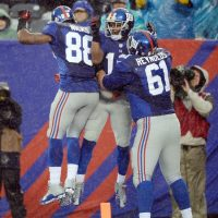 Hakeem Nicks, Jerrel Jernigan, and Dallas Reynolds; New York Giants (December 29, 2013)