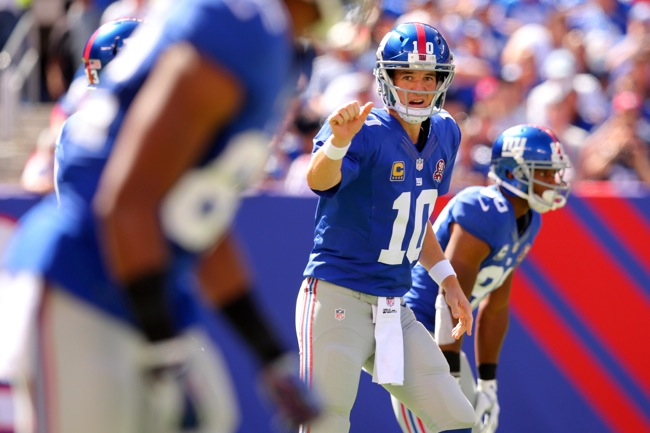Eli Manning, New York Giants (September 14, 2014)