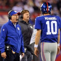 Tom Coughlin, Ben McAdoo, and Eli Manning; New York Giants (November 23, 2014)