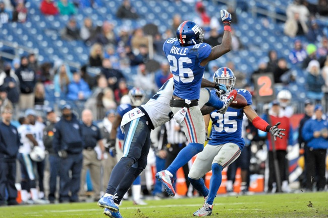 Antrel Rolle and Quintin Demps, New York Giants (December 7, 2014)