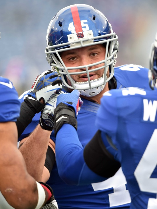 Henry Hynoski, New York Giants (December 7, 2014)