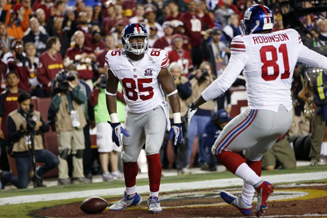 Daniel Fells and Adrien Robinson, New York Giants (September 25, 2014)