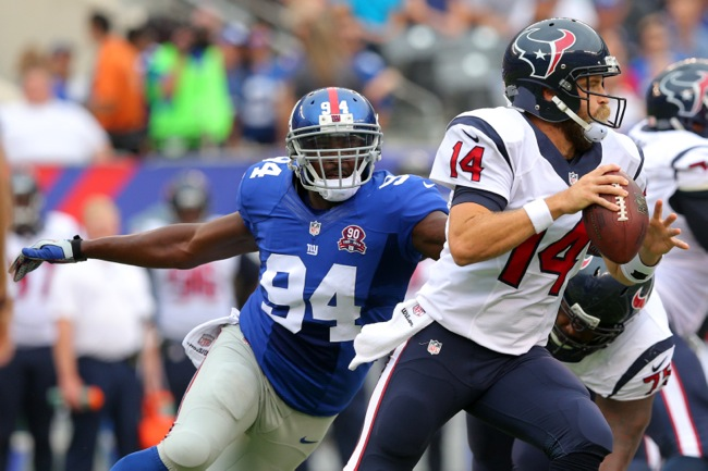 Mathias Kiwanuka, New York Giants (September 21, 2014)