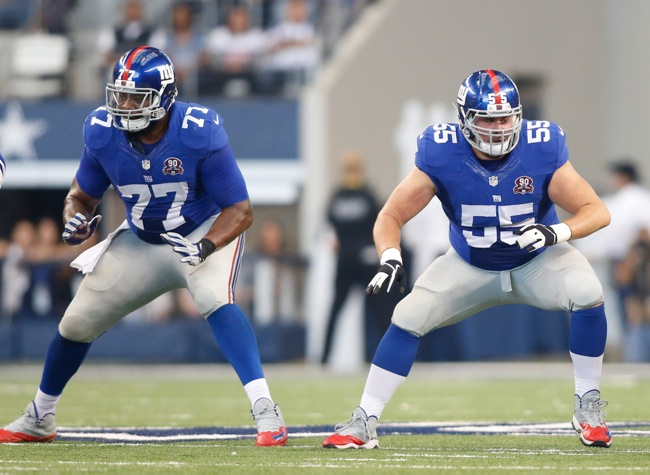 John Jerry and J.D. Walton, New York Giants (October 19, 2014)