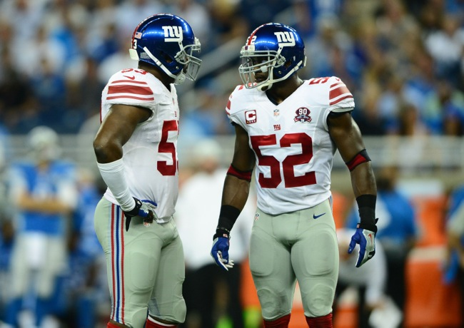 Jameel McClain and Jon Beason, New York Giants (September 8, 2014)