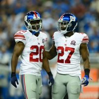 Prince Amukamara and Stevie Brown, New York Giants (September 8, 2014)