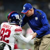 Rueben Randle and Tom Coughlin, New York Giants (December 21, 2014)