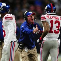 Tom Coughlin and Odell Beckham, New York Giants (December 21, 2014)