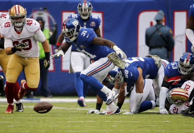 Zack Bowman, New York Giants (November 16, 2014)