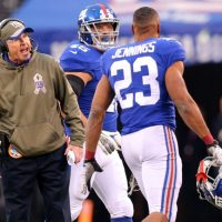Tom Coughlin and Rashad Jennings, New York Giants (November 16, 2014)