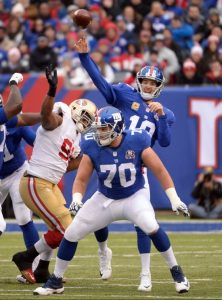 Weston Richburg and Eli Manning, New York Giants (November 16, 2014)