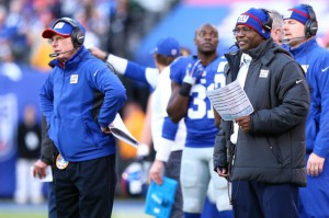Tom Coughlin and Perry Fewell, New York Giants (December 14, 2014)