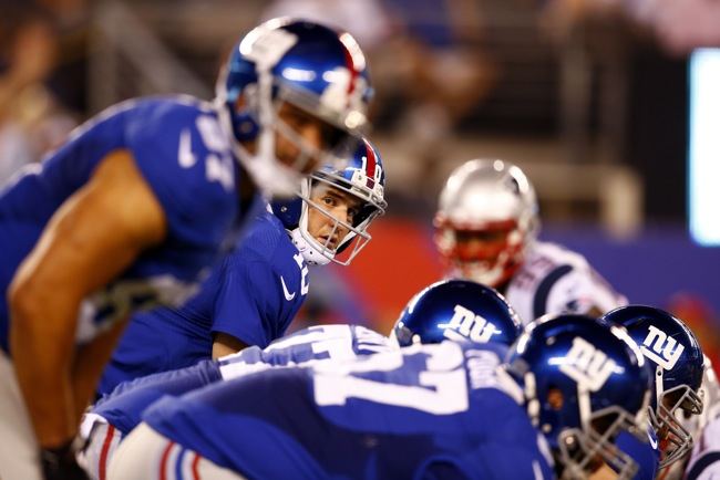 Eli Manning, New York Giants (August 28, 2014)