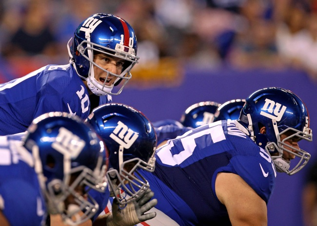 Eli Manning, New York Giants (August 9, 2014)