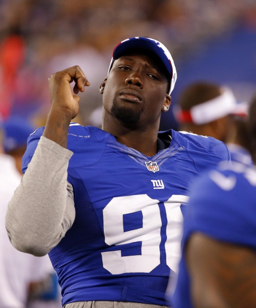 Jason Pierre Paul Pictures: New York Giants Officials Visit Jason Pierre-Paul