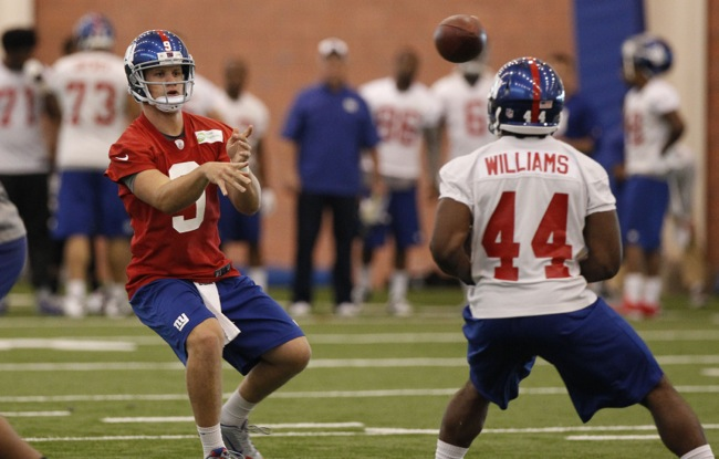 Ryan Nassib and Andre Williams, New York Giants (July 23, 2014)
