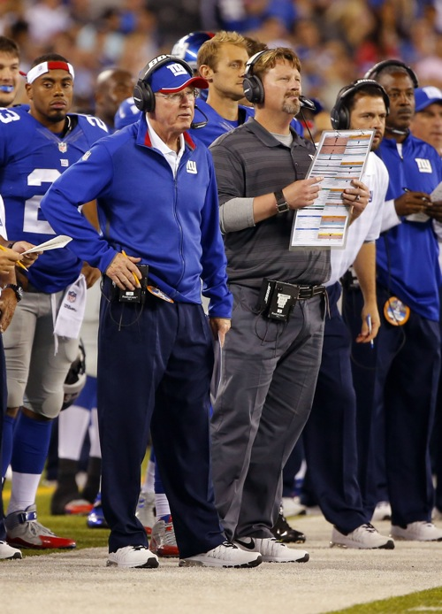 Tom Coughlin and Ben McAdoo, New York Giants (August 28, 2014)