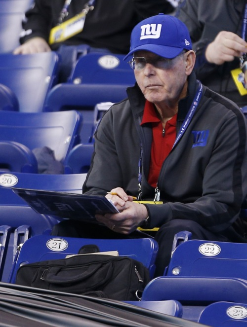 Tom Coughlin, New York Giants (February 22, 2014)