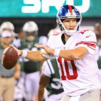 Eli Manning, New York Giants (August 22, 2014)