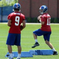 Ryan Nassib (9) and Eli Manning (10), New York Giants (June 18, 2014)