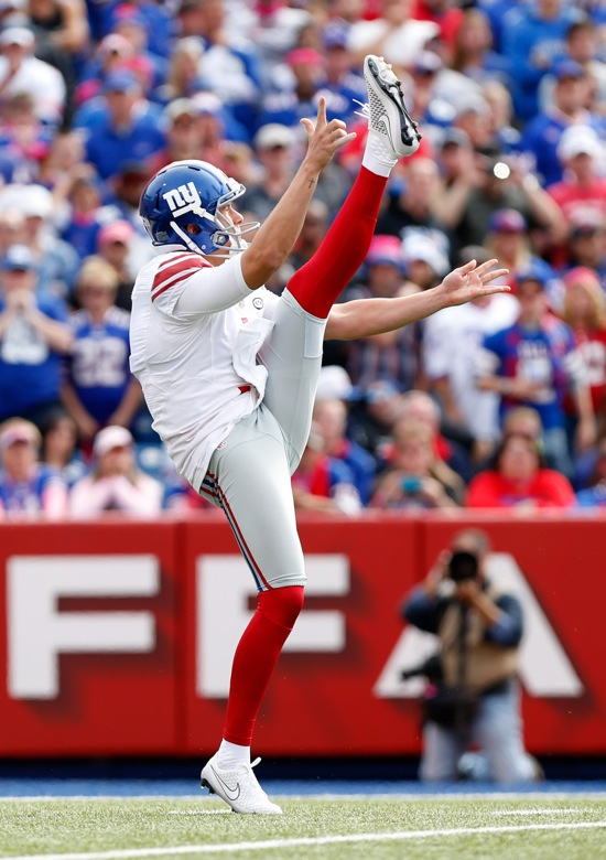 Brad Wing, New York Giants (October 4, 2015)