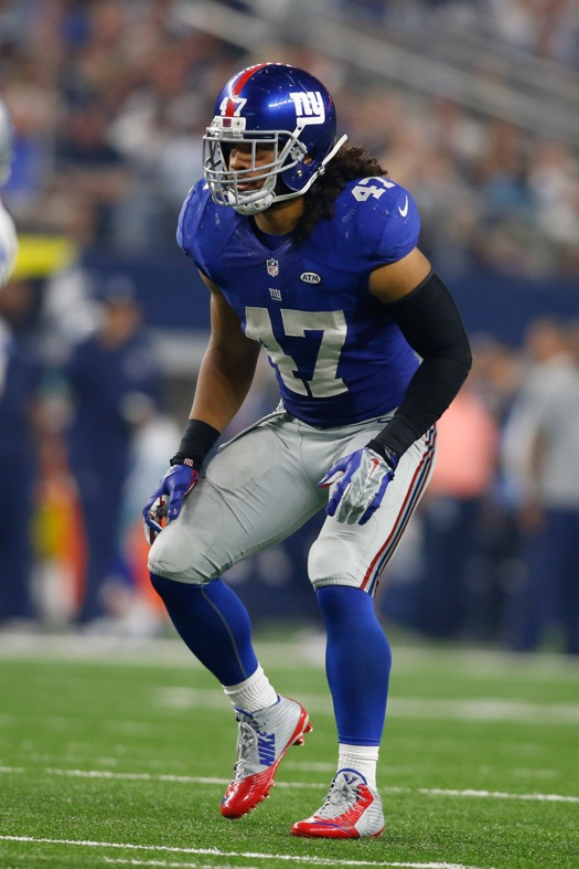 Uani' Unga, New York Giants (September 13, 2015)