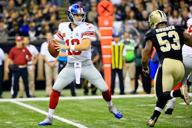 Eli Manning, New York Giants (November 1, 2015)