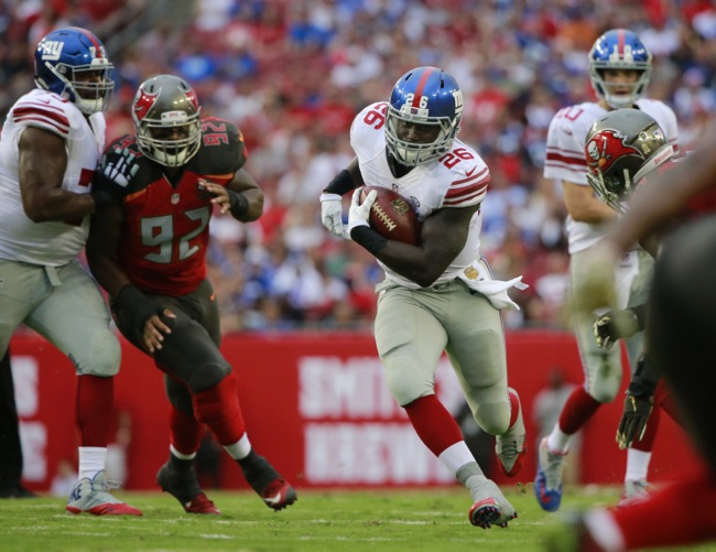 Orleans Darkwa, New York Giants (November 8, 2015)
