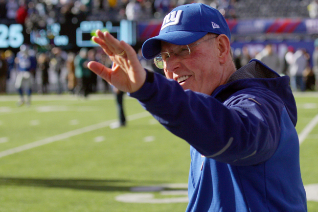 Tom Coughlin, New York Giants (January 3, 2016)