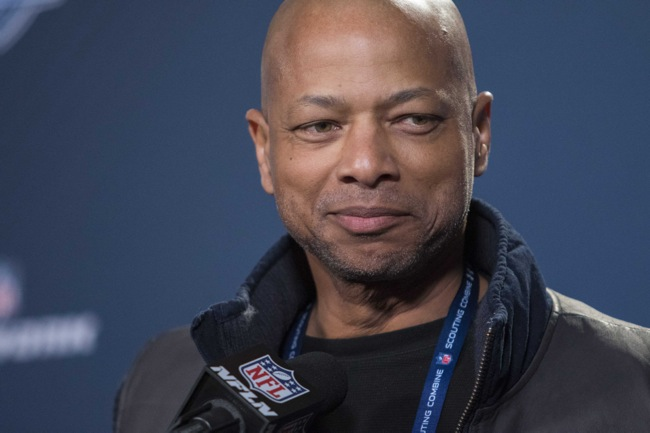 Jerry Reese Addresses Media at NFL Combine