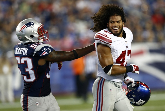 Unai' Unga, New York Giants (September 3, 2015)