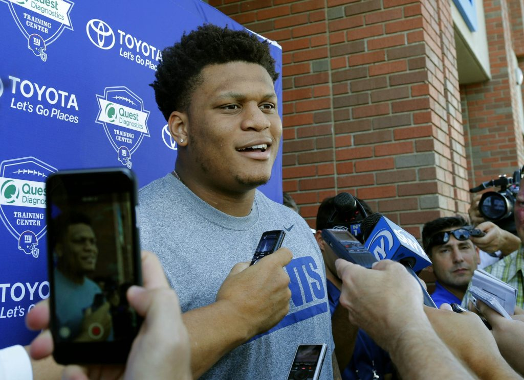 Ereck Flowers, New York Giants (July 31, 2015)