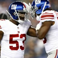 Jameel McClain and J.T. Thomas, New York Giants (September 3, 2015)