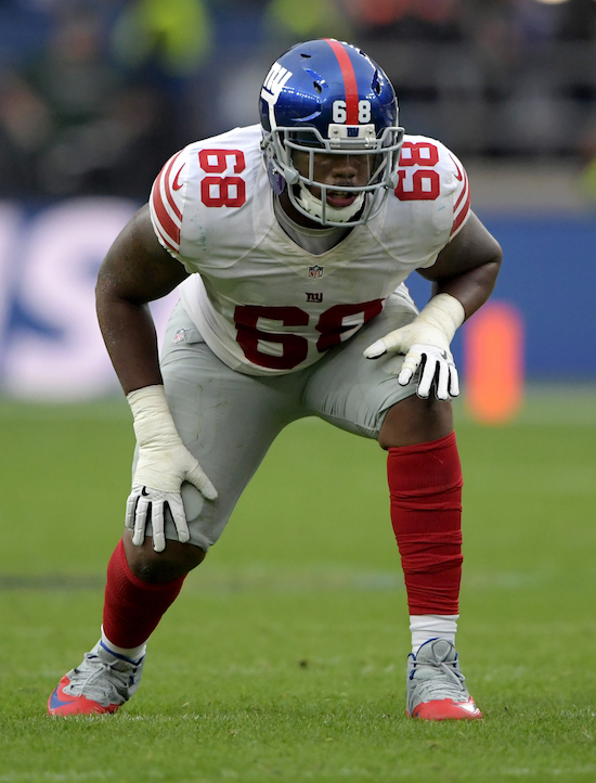 Bobby Hart, New York Giants (October 23, 2016)