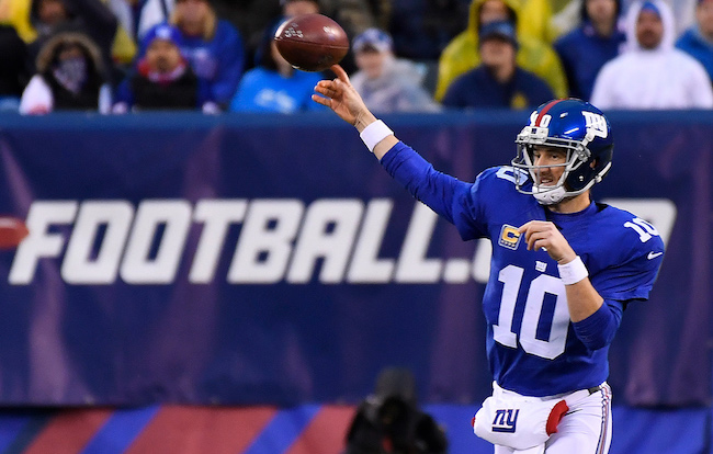 Eli Manning, New York Giants (December 18, 2016)