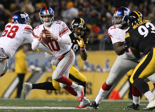 Eli Manning, New York Giants (December 4, 2016)