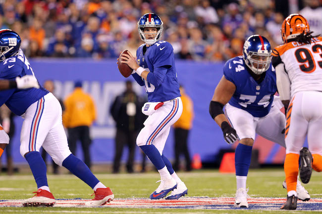 Eli Manning, New York Giants (November 14, 2016)