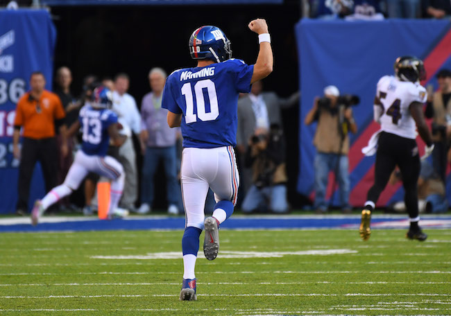 Eli Manning, New York Giants (October 16, 2016)