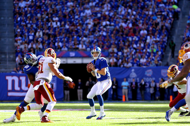 Eli Manning, New York Giants (September 25, 2016)