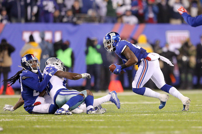 Janoris Jenkins and Landon Collins, New York Giants (December 11, 2016)