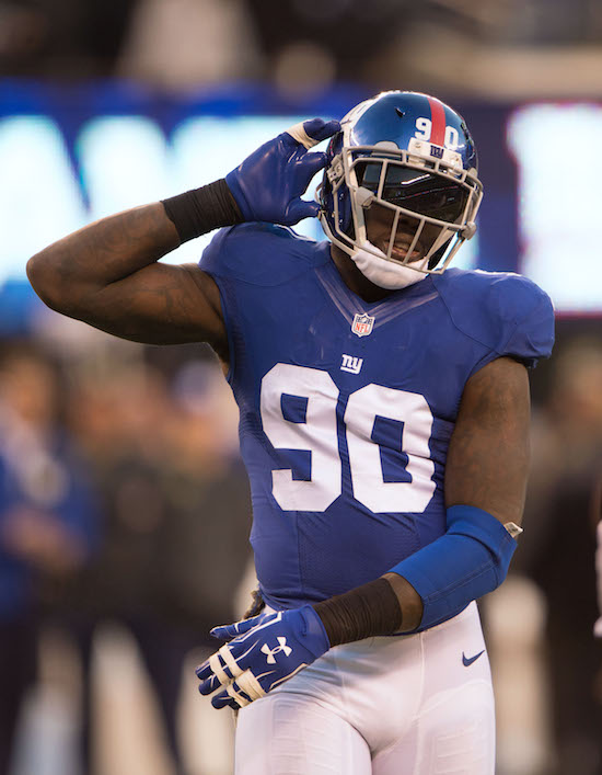 Jason PIerre-Paul, New York Giants (November 6, 2016)
