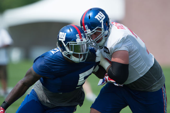 Jasper Brinkley and Weston , New York Giants (July 30, 2016)Richburg