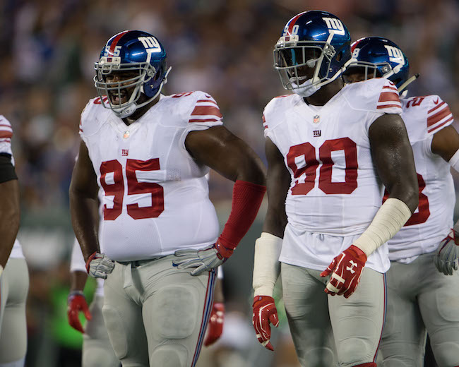 Johnathan Hankins and Jason Pierre-Paul, New York Giants (August 27, 2016)