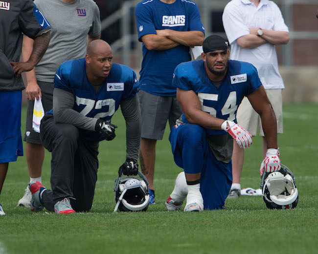 Kerry Wynn and Olivier Vernon, New York Giants (July 30, 2016)