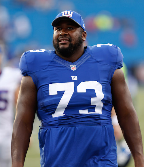 Marshall Newhouse, New York Giants (August 20, 2016)